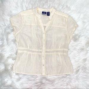 DCC MISSY off white vintage blouse size XL